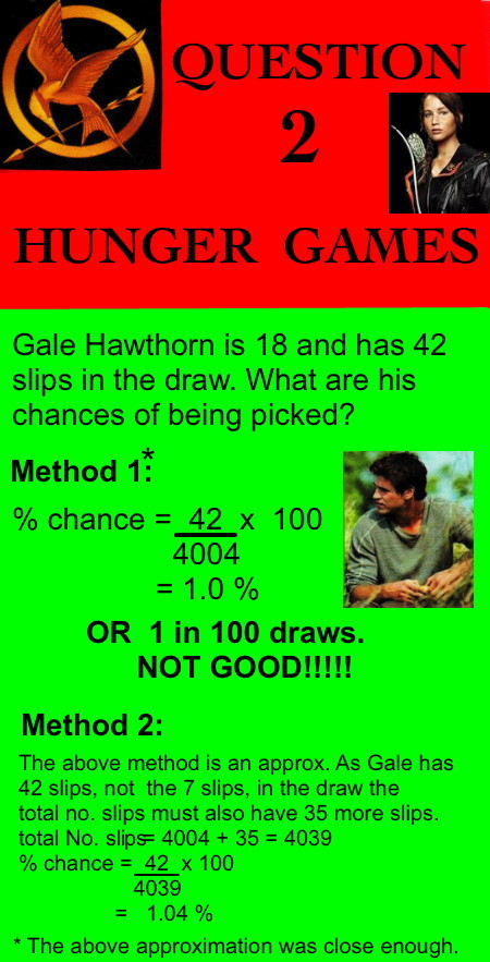 Hunger Games Probability