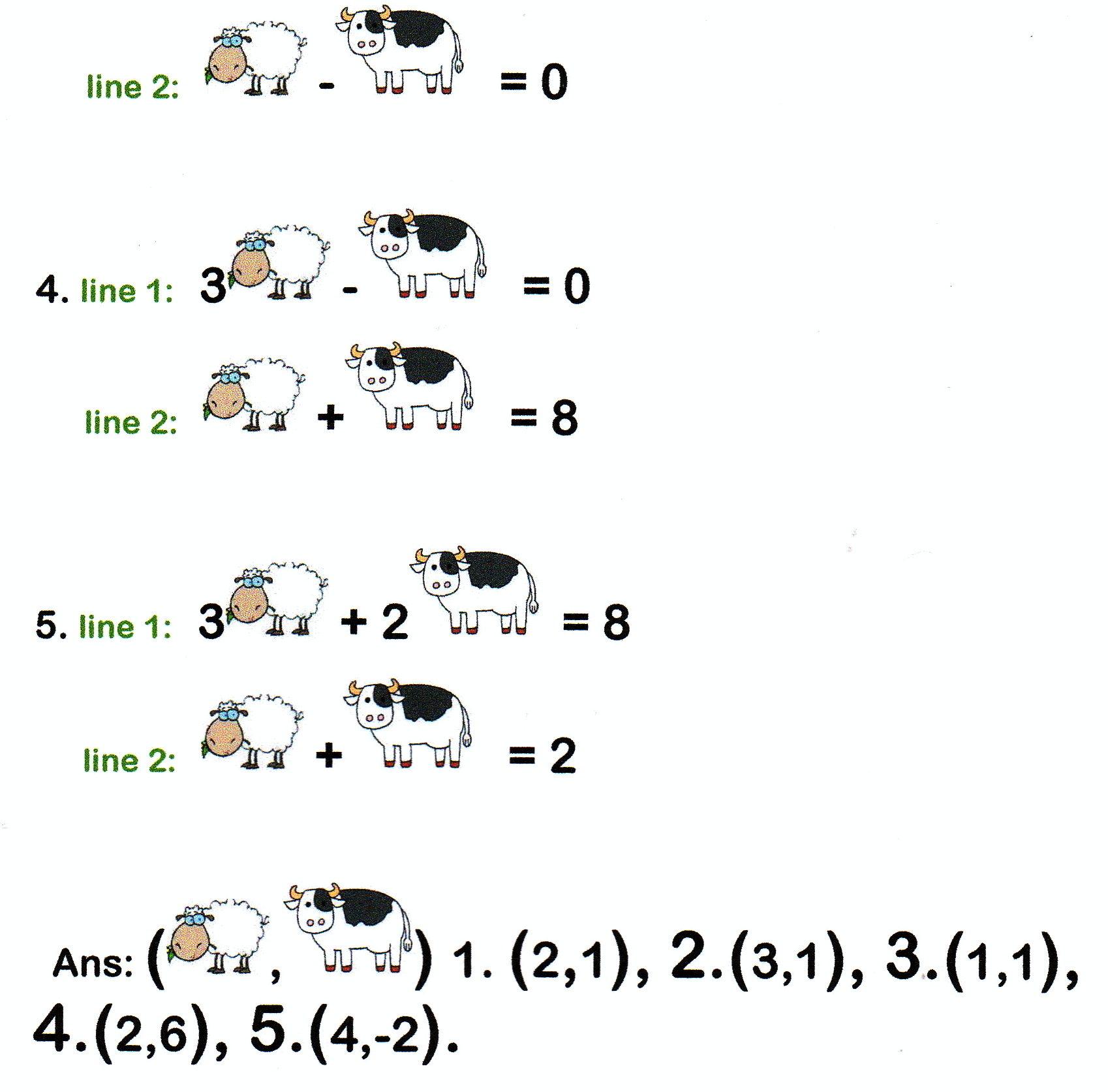 sheep algebra – Math Joke Worksheets