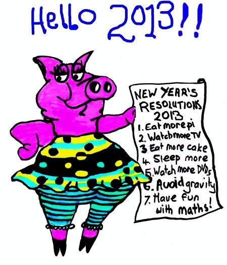 mathspig 2013 new year
