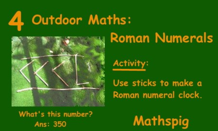 Outdoor Maths 4 Mathspig