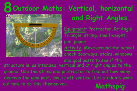 Outdoor Maths 8 Mathspig