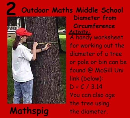 Outdoor Maths Middle School 2 Mathspig