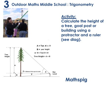 Outdoor Maths MIddle School 3 Mathspig