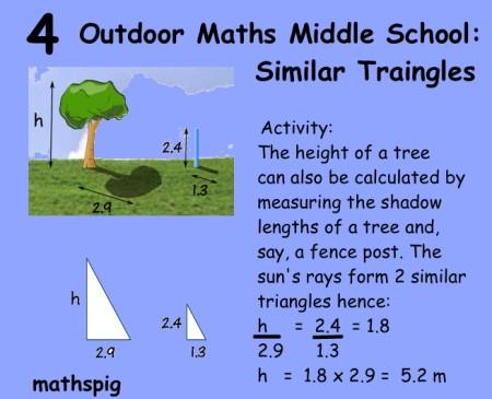 Outdoor Maths Middle School 4 mathspig
