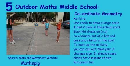 Outdoor Maths Middle School 5 Mathspig
