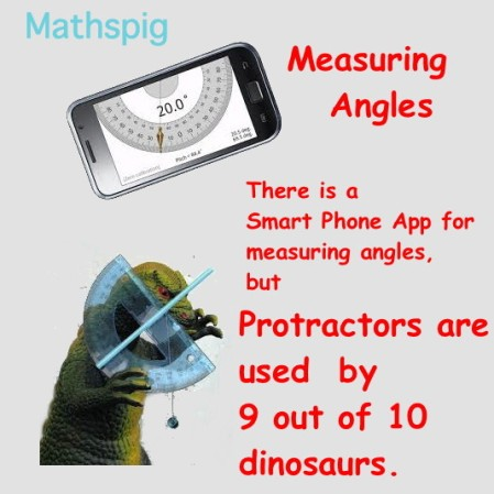 Protactors and dinosaurs mathspig