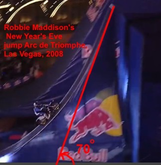5 Robbie Maddison's 2008 New Year's Eve jump Arc de Triomphe at the Paris Las Vegas