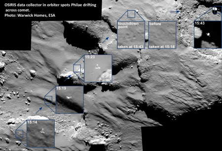 1 OSIRIS_spots_Philae_drifting_across_the_comet  2