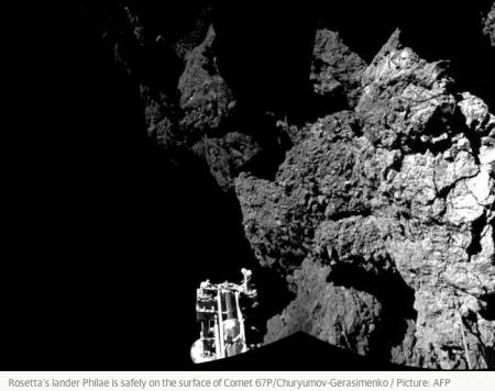 1a Rosetta lander on comet