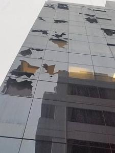 Wild storm in Brisbane yesterday caused severe hail stone damage to city buildings.  The Australian Website