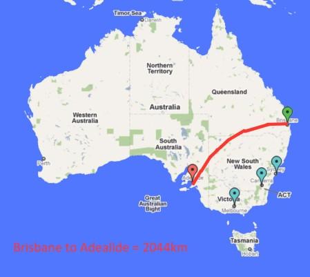 Brisbane to Adealide