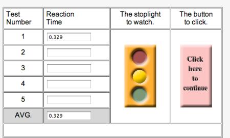 mathspoig reaction time