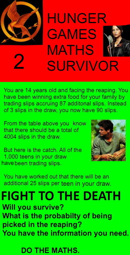 Hunger Games Maths Survivor 2