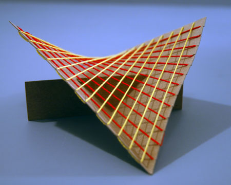 pic 3 hyperbolic paraboloid  with wool