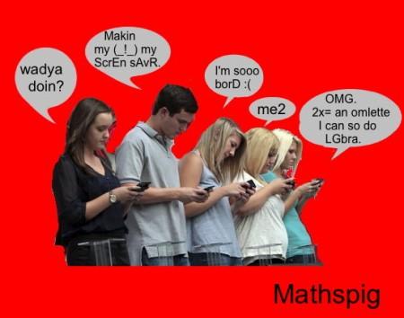 Texting Boredom Mathspig 7