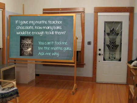 2 chocolate chalk board