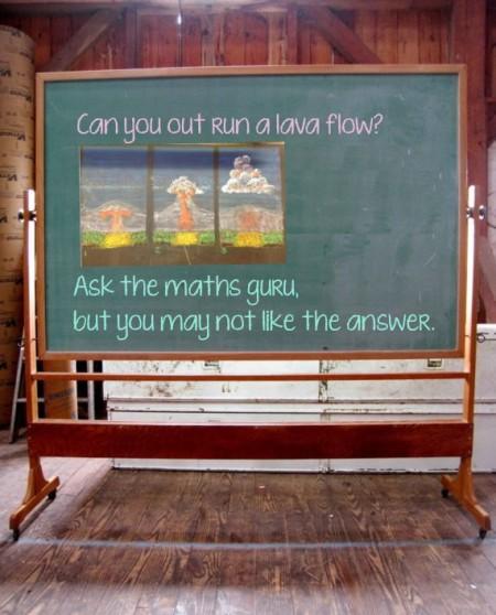 6 lava flow chalk board