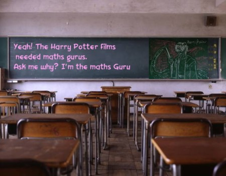 8 Harry Potter chalk board