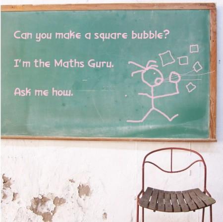 9 bubbles chalkboard