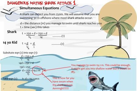 4 shark attack maths mathspig