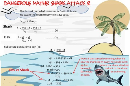 5 shark attack Maths mathspig
