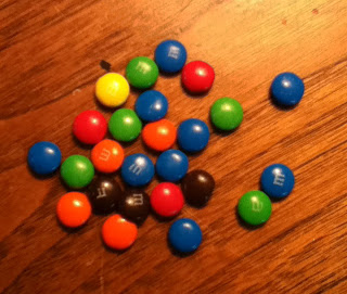 m&ms  table