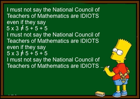 National Council of Teachers of Mathematics are Idiots