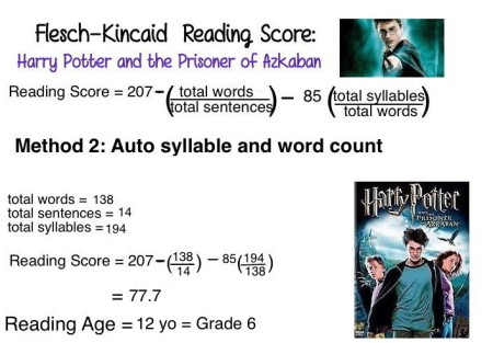 11 Harry Potter readability Method 2