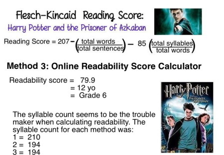 12 Harry Potter Readability Method 3