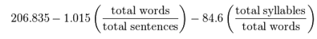 4. Flesch Kincaid Formula