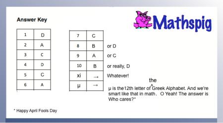 April Fool Math Test Usa Mathspig Blog