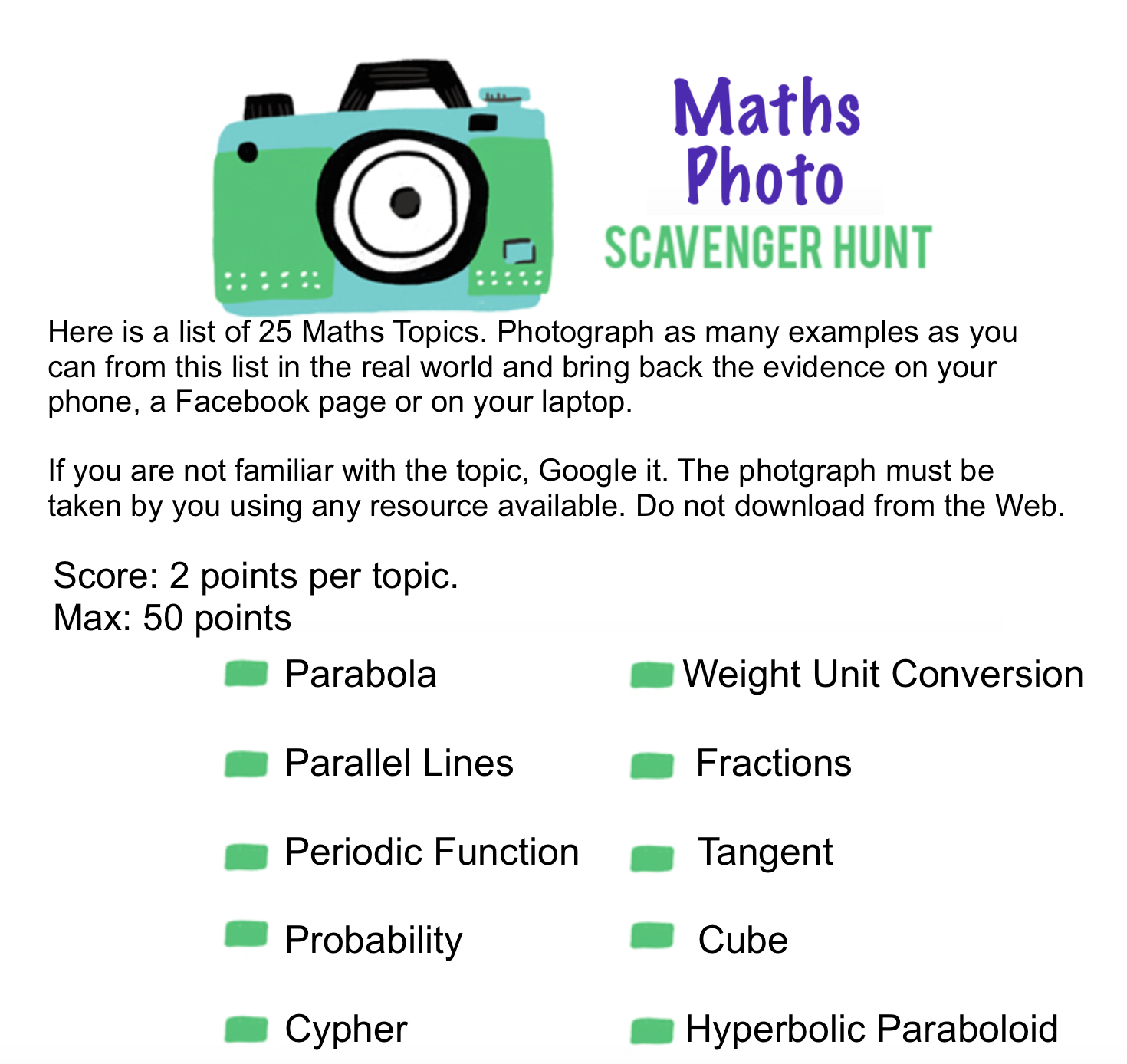 scavenger hunt | Mathspig Blog
